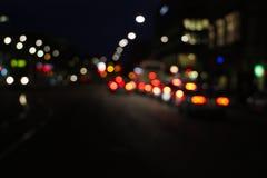 Nachtstadtstraße Stockbild