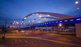 Nachtstadtverkehr Stockfoto