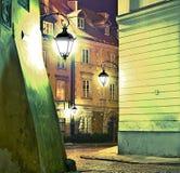 Nachtstraße Lizenzfreie Stockbilder