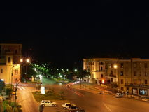 Nachtstraße Stockfotografie