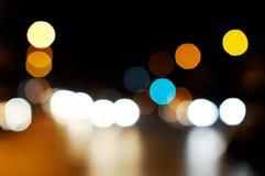 Nachtstraße. lizenzfreie stockbilder