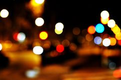 Nachtstraße. stockbilder