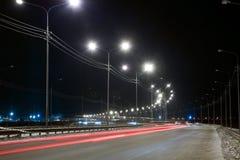 Nachtstraße Lizenzfreie Stockfotografie