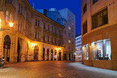 Nachtstraße von Bratislava Lizenzfreies Stockbild