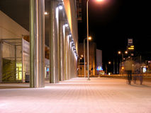 Nachtstraßenansicht lizenzfreies stockbild