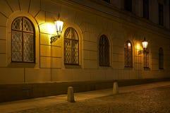Nachtstraat Royalty-vrije Stock Foto's