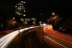 Nachtstraat in Köln Stock Foto's