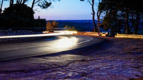 Nachtstreifen auf den Straßen Lizenzfreie Stockfotografie