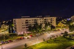 Nachtszene in der Stadt Stockfotografie