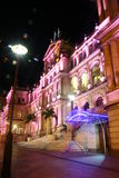 Nachtszene des Brisbane-Fiskus-Kasinos Lizenzfreies Stockbild