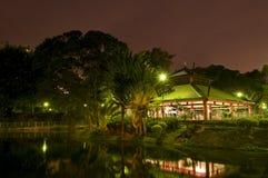 Nachtszene des Gartens Lizenzfreies Stockfoto