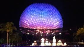 Nachtszene in Disney& x27; s-Welt Lizenzfreies Stockfoto