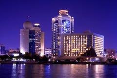 Nachtszene, Dubai Stockbild