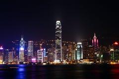 Nachtszene in Hong Kong Lizenzfreie Stockfotografie