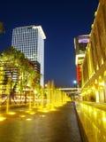 Nachtszene innen im Stadtzentrum gelegen lizenzfreies stockfoto