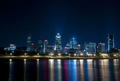 Nachtszene in Montreal Lizenzfreies Stockfoto