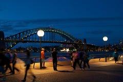 Nachtszene in Sydney Lizenzfreie Stockbilder