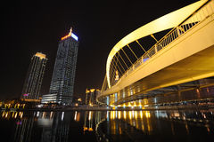 Nachtszene in Tianjin Lizenzfreie Stockfotografie