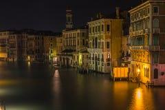 Nachtszene in Venedig Italien Lizenzfreies Stockbild