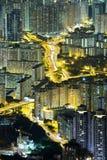 Nachtszene von Hong Kong Lizenzfreies Stockbild