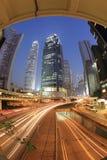 Nachtszene von Hong Kong, zentral Lizenzfreie Stockfotografie