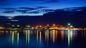 Nachtszene von Koh Loi, Thailand Stockbild