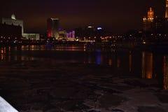 Nachtszene von Moskau Lizenzfreies Stockfoto