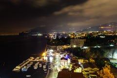Nachtszene von Sorrent Lizenzfreies Stockbild
