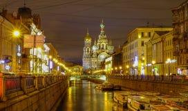 Nachtszene von St Petersburg, Russland Lizenzfreies Stockbild