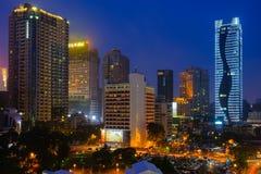 Nachtszene von Taichung, Taiwan Stockbild