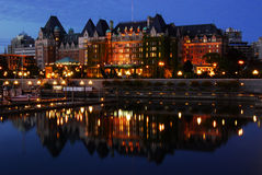 Nachtszene von Victoria Stockbilder