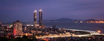 Nachtszene in Xiamen, China Lizenzfreies Stockbild