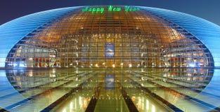 Nachtszenen des China-großartigen Nationaltheaters Lizenzfreie Stockfotos