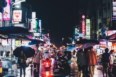 Nachtteller, Kaohsiung, Taiwan stock foto's