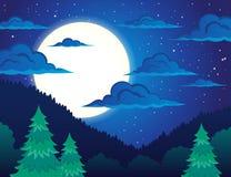 Nachtthemalandschaft 1 Lizenzfreie Stockfotografie