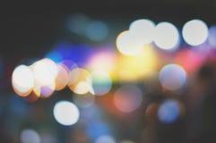 Nachtunschärfe bokeh Beschaffenheitstapeten und -hintergründe Lizenzfreie Stockbilder