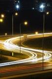 Nachtverkeer Stock Fotografie