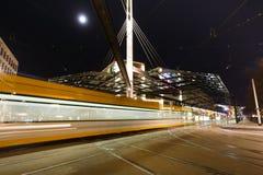 Nachtverkeer op Postplatz Royalty-vrije Stock Afbeeldingen