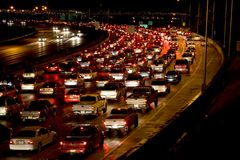 Nachtverkehr Stockfoto
