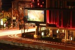 Nachtverkehr in Chiang Mai Lizenzfreie Stockfotos
