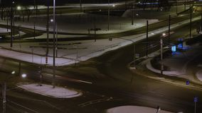 Nachtverkehr in St Petersburg stock video footage