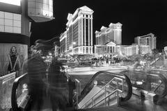 Nachtverkehr Streifen in Las Vegas Stockfotografie