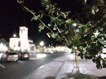 Nachtvierkant in Tsjechische republiek stock afbeeldingen