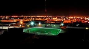 Nachtvoetbal in Al Hasa Stock Fotografie