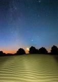 Nachtwüste Stockbilder