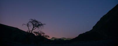 Nachtwüste in Israel Lizenzfreies Stockfoto