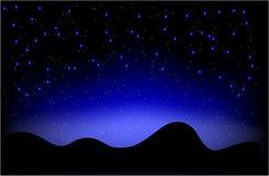 Nachtwüste Vektor Lizenzfreie Stockfotografie