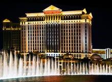 Nachtwassererscheinen von Vegas lizenzfreies stockbild
