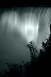 Nachtwasserfalldetail stockbild