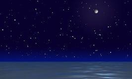 Nachtwasseroberfläche Lizenzfreie Stockbilder